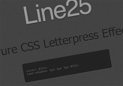 CSS letterpress effect