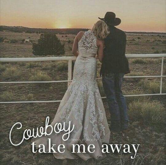 rustic country wedding | cowboy take me away