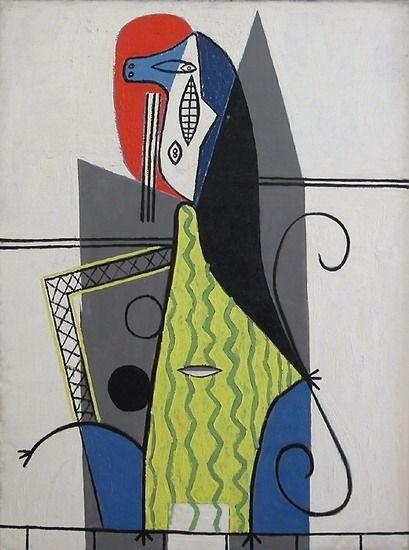 Pablo Picasso. Femme dans un fauteuil3. 1927