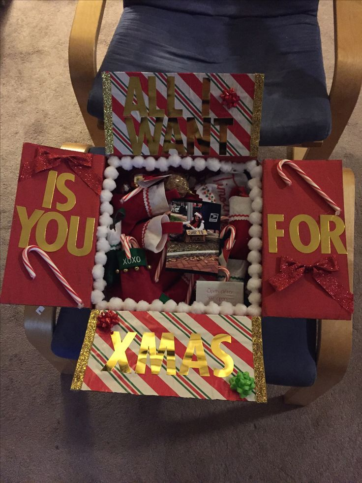 Deployment Care package, DIY, Christmas Care package, All I want for ...