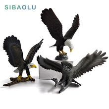Simulation Eagle PVC miniature garden furniture Owl Figurine animal home decoration accessories Decor plastic toy Gift For Kids //Price: $US $4.68 & FREE Shipping //   #gloves #decor #dresses #skirts #pants #tshirts