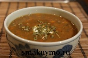 Французский суп из чечевицы