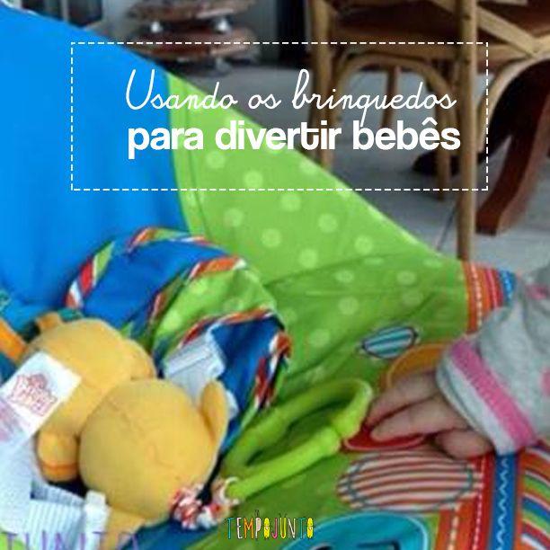 Dicas de como usar os brinquedos para divertir e desenvolver os bebês de 0 a 6 meses.