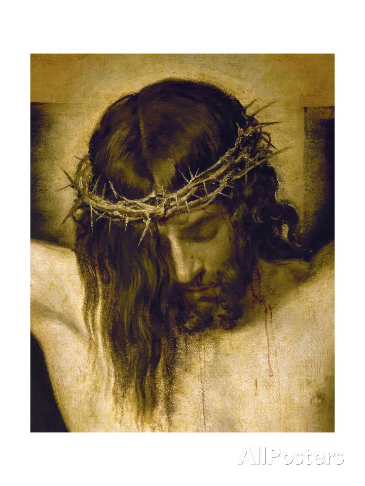 Crucified Christ (Detail of the Head), Cristo Crucificado Giclee Print at AllPosters.com