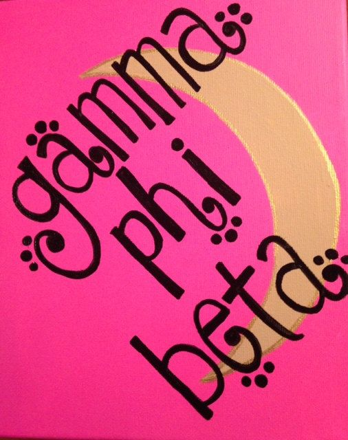Gamma Phi Beta  Symbol Sorority Canvas by GreekCanvases on Etsy