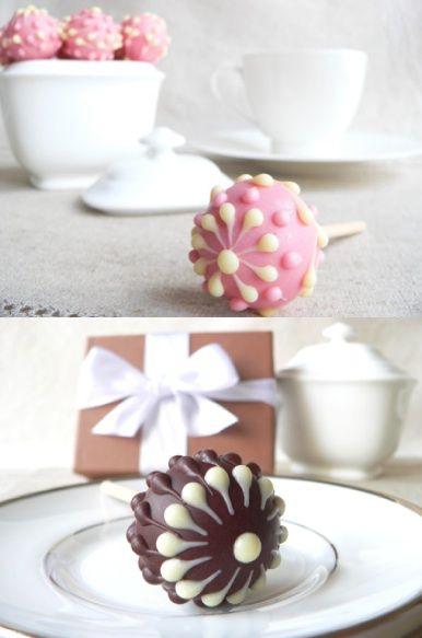 Chocolate Lollipops these look super super cute