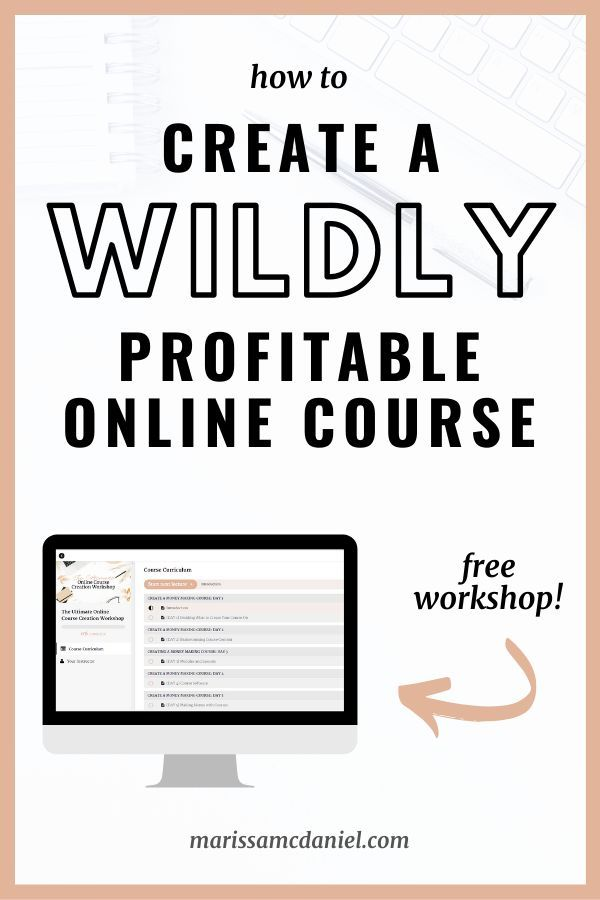 Free Workshop How To Create An Online Course Online Course Creation Create Online Courses Online Course Design