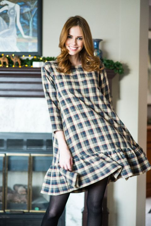 Alyssa Campanella The A List blog Miss USA Christmas Canada The Great Plaid Dress