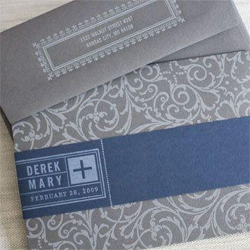 hammerpress wedding invitation