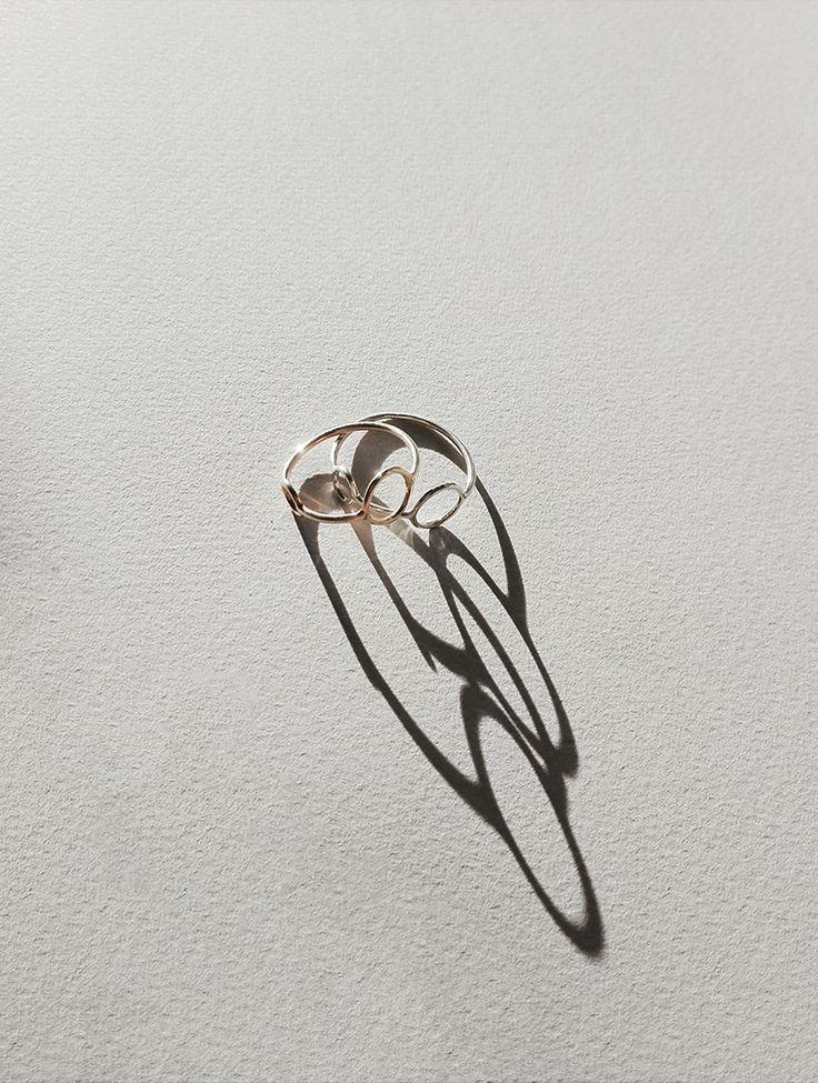 rett frem | gold and silver saburi rings
