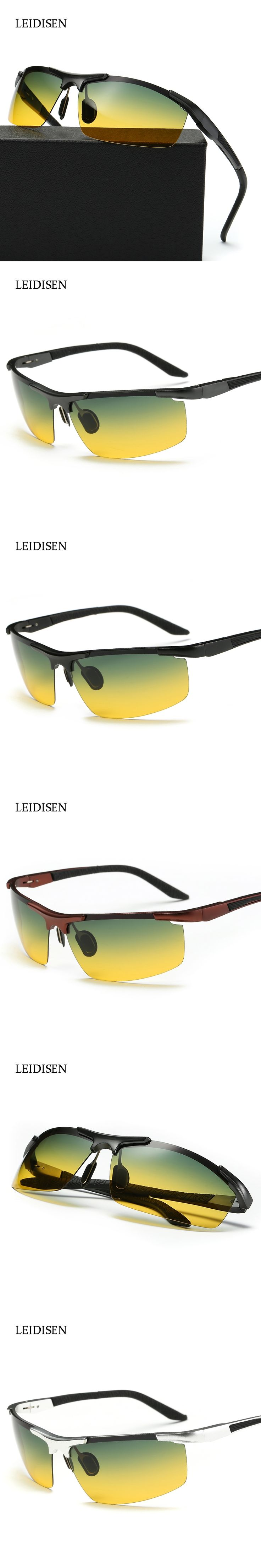 Aluminum Magnesium Men's Polarized Sun glasses Police Sunglasses Night Vision Mirror Male Eyewear  Goggle Oculos For Men