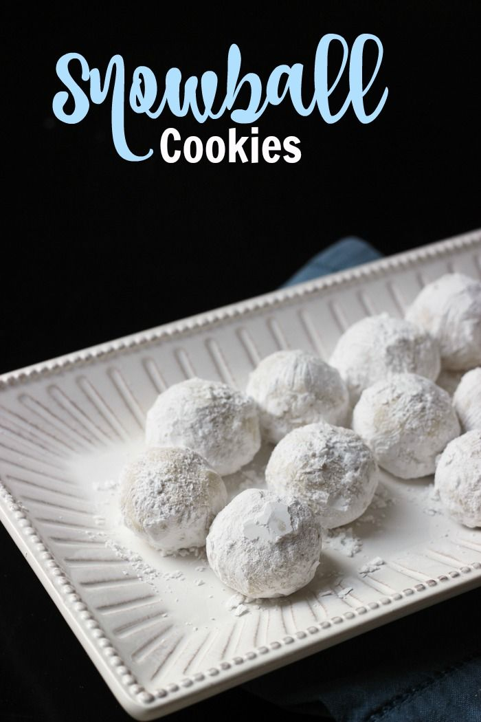 Snowball Cookies - A Must-Make for Your Cookie Plate - Good Cheap Eats - Snowball Cookies are a delectable concoction of butter, flour, and sugar. This no-nut version of the classic recipe is a delicious must-make for your cookie plate.