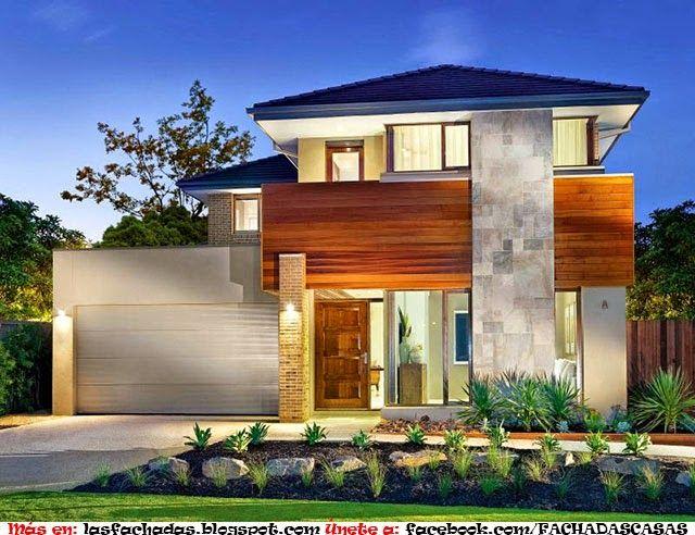 Como arreglar la fachada de una casa pequena fachadas for Casas modernas x dentro
