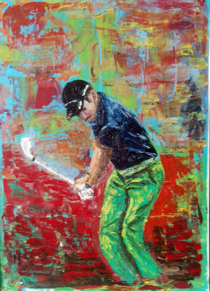 """""""Golfista"""" Óleo sobre lienzo"""