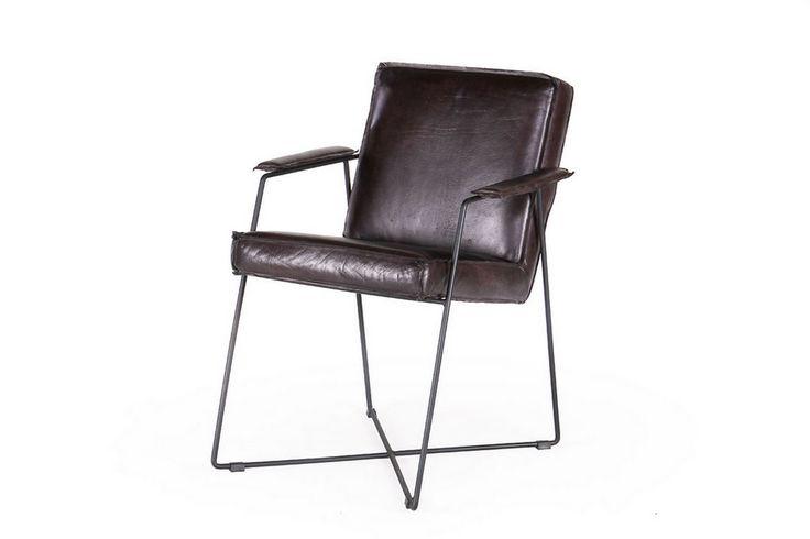 Armlehnstuhl Leder cuba braun - Stühle - Sitzgelegenheiten