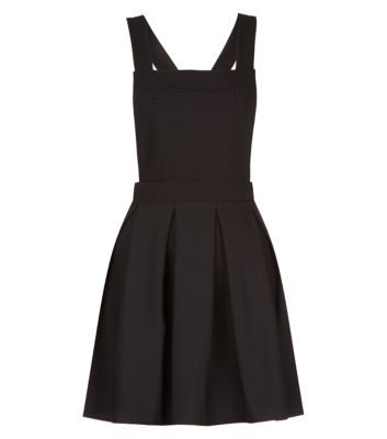 Black Pleated Pinafore Dress was £19.99 now £11