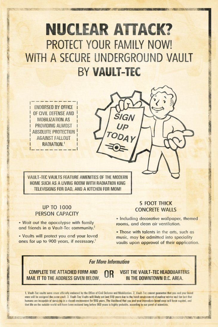 Fallout Custom Poster: Vault-Tec Newspaper Ad by MattTheKid