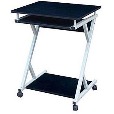 Hodedah HIS828 Modern Wood/Metal Computer Desk  Foot rest type area
