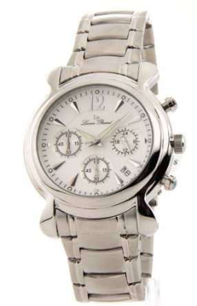 Lucien Piccard Men's Steel Chronograph Large Date Watch 26567Sl