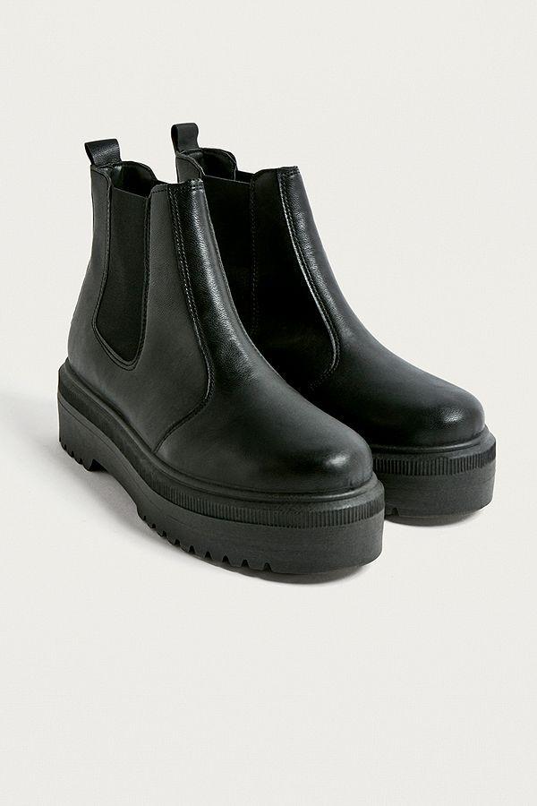 UO Brody Black Faux Leather Platform