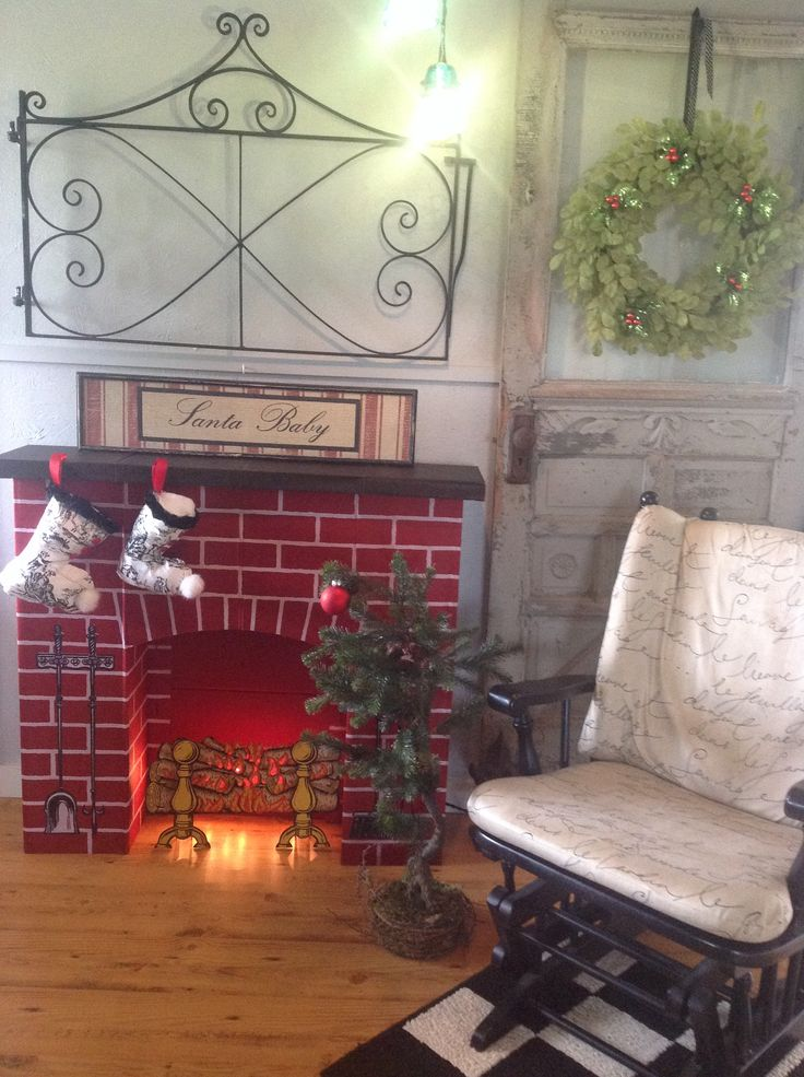 Fireplace Design diy cardboard fireplace : 61 best Vintage Cardboard Fireplaces images on Pinterest