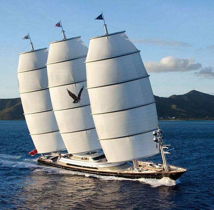 Elegant Sailing yacht, Maltese falcon yacht, Yacht