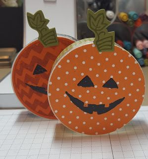 Halloween treat holders made from little button containers