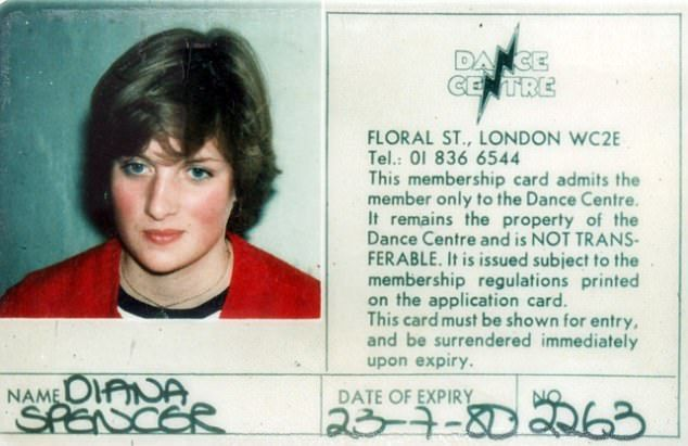 Diana's laminated photo membership card from 1980 for the Dance Centre in Floral Street, C...