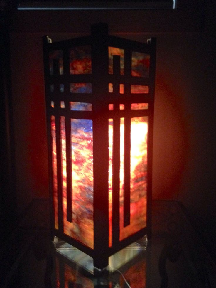 A personal favorite from my Etsy shop https://www.etsy.com/listing/507047803/square-table-lamp-stained-glass-lamp
