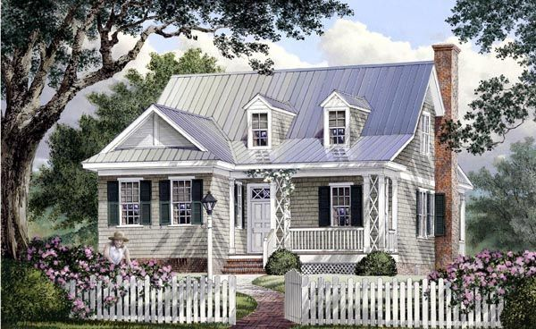 Cape cod cottage country southern house plan 86106 house for Cape cod cottage house plans