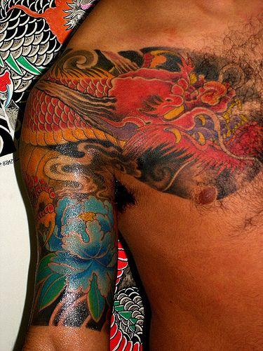 whispers: татуировки дракона на плечо фото