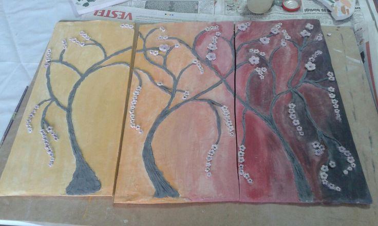 Ağaçlar ve gece boyanmış hali