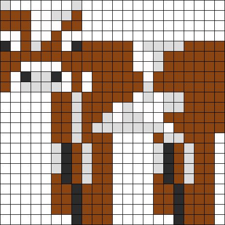 Minecraft Cow Perler Bead Pattern