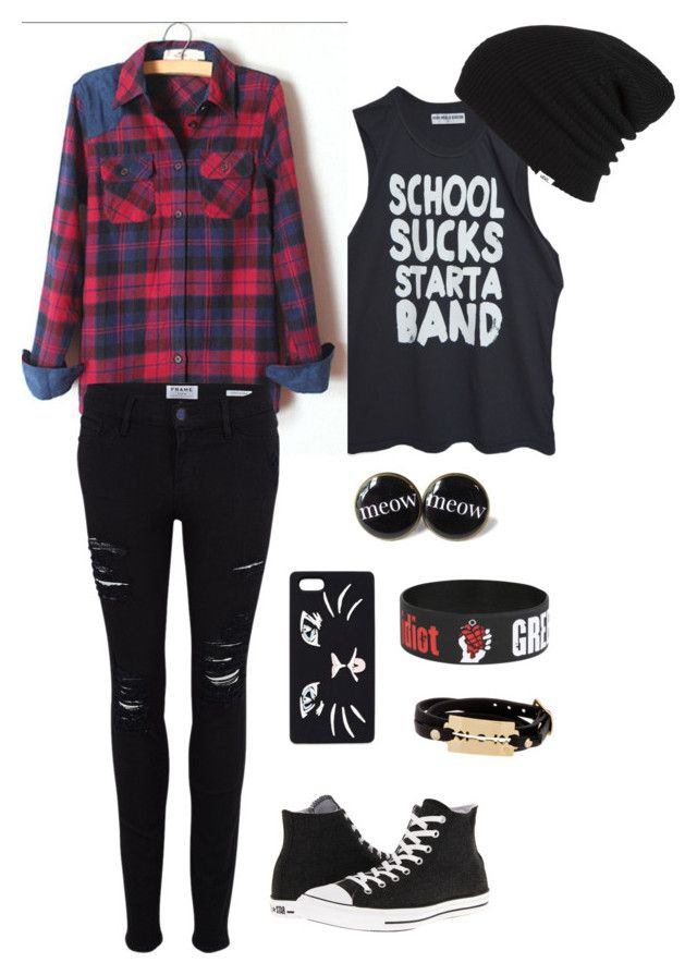 """cute rocker outfit :p"" by jeniigreenlaw ❤ liked on Polyvore"