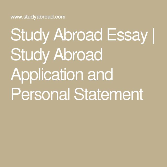 13 best Study Abroad Application Advice images on Pinterest Advice - best of 9 personal statement letter
