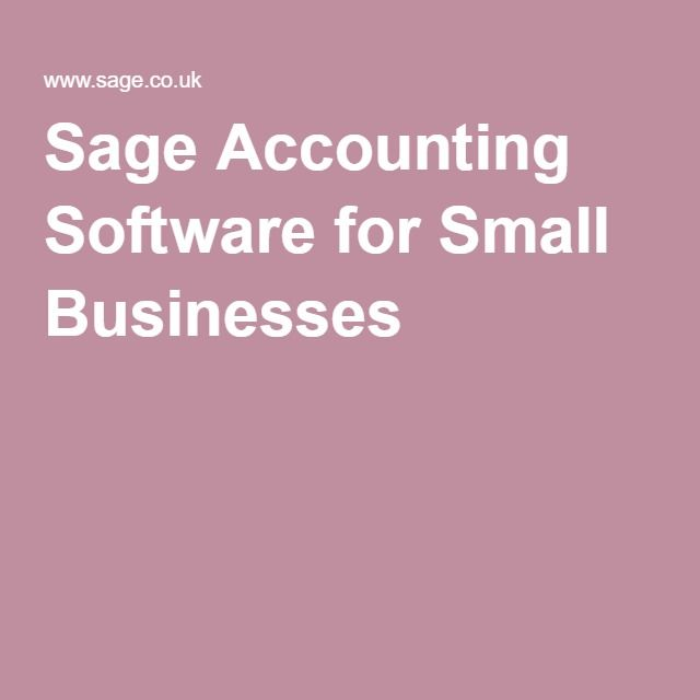 Sage Accounting Software for Small Businesses