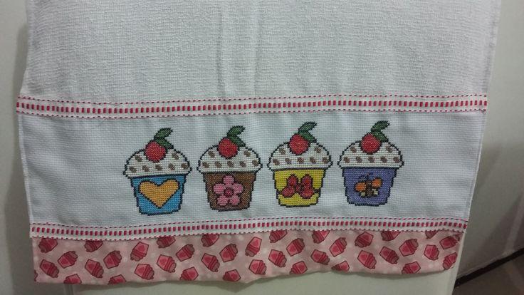 Pano de copa - cupcake