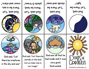Bible Minibooks And More Children Can Learn What God Created On Each