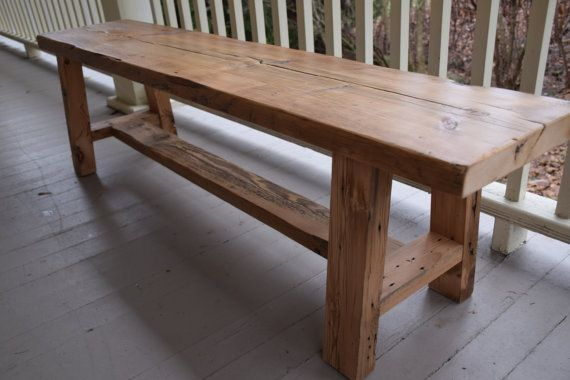 Reclaimed Wood Bench Entryway Bench Barn Wood Bench by AcornMill