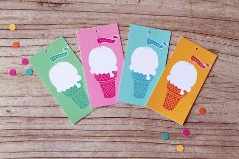 free ice-cream tags