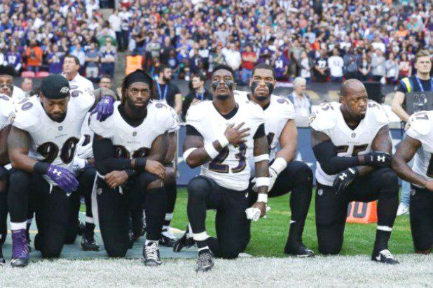 """Trump Slapped With Ethics Complaint Over Call to Fire NFL Players Who Protest Anthem - 18 U.S. Code § 227 makes it a federal crime - punishable by a fine or up to 15 years in prison -  for a government employee to influence or threaten to influence a private employment decision.  """"No president is exempt from the rule of law"""""""