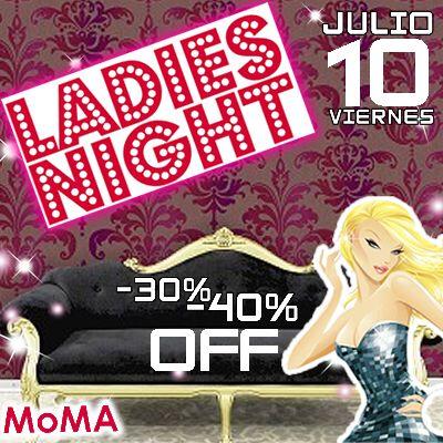 Hoy hoy hoy Viernes 10 de Julio...Ladies Night...40% off en licores nacionales y 30% en importados...No Cover. ..Reserva ya!!!