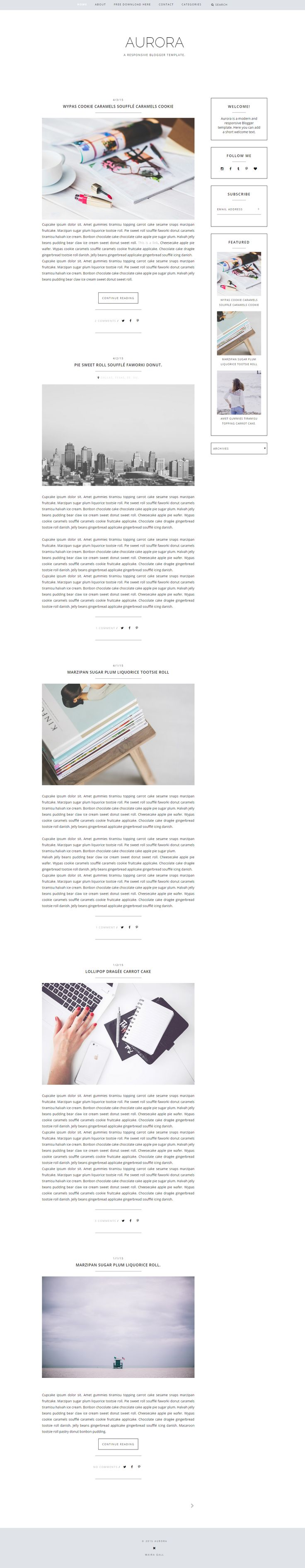 Free responsive Blogger template. Feminine blog design. Fashion blog theme. Web…