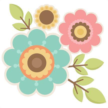 44 best flores images on pinterest clip art illustrations and rh pinterest com cute flower clipart png cute colorful flower clipart