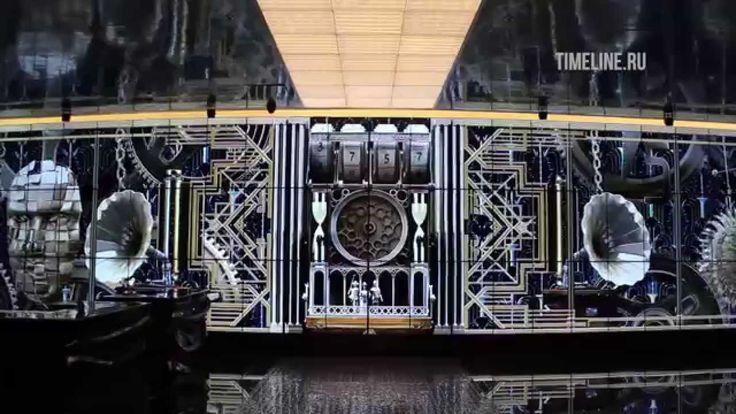 Biggest video wall at Leningrad Center / Timeline LLC 99 screens videowall #SpinetiX #HMP200 Native resolution 12K