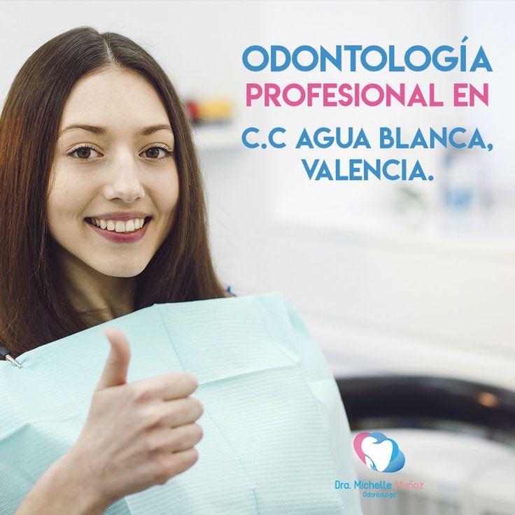 Estoy ubicada en el C.C #AguaBlanca en #Valencia ven a visitarme con previa cita de 8 A.M a 2 P.M. apartando por el numero de contacto 0414-4989828 o por el correo Dra.michellemunoz@gmail.com te estaré esperando :) #odontologia #odonto #dentista #odontolove