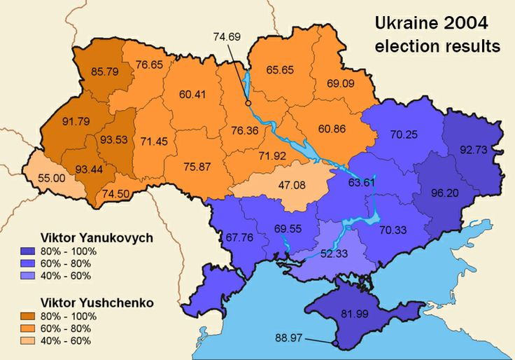 This one map helps explain Ukraine's protests Ukrain 2004 election results
