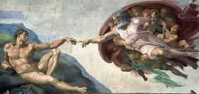 Michelangelo (Buonarroti) - Die Erschaffung Adams
