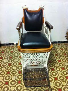 decoración vintage, antiguitats-baraturantic: antigua silla de barbero triumph