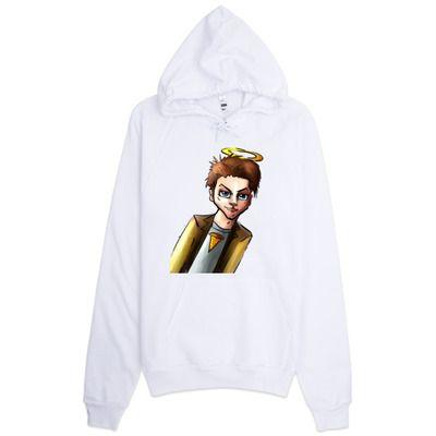 Castiel chibi hoodie fenix fire designs